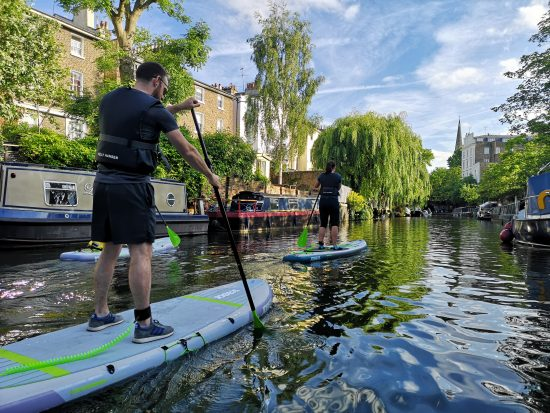 Paddle boarding London's Regent's Canal
